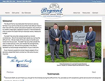 Bryant Funeral Homes, Berlin and Gorham, NH